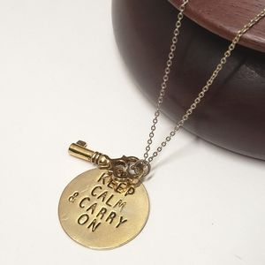 Alisa Michelle KEEP CALM & CARRY ON Necklace